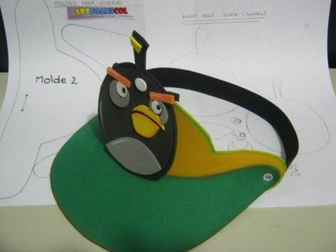 VISERAS CON MOLDES EN FOAMY ANGRY BIRDS PARA FIESTAS INFANTILES TEMATICAS aRTFOAMICOL - https://www.youtube.com/watch?v=O_2zS70DKI4