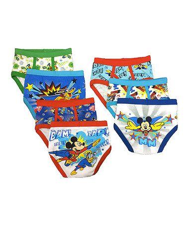 Loving this Blue Mickey Underwear Set - Boys on #zulily! #zulilyfinds