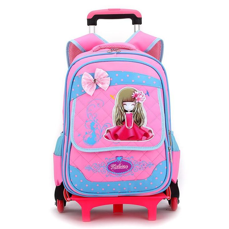 ZIRANYU with 6 wheels Rolling school backpacks girls boys trolley bags Climb stairs bag backpack schoolbag teenage girl bookbag