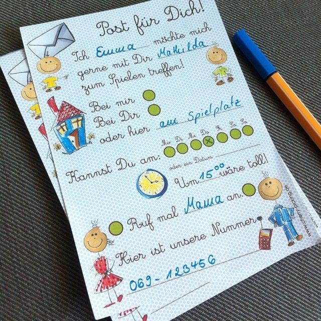 Verabredungsblock- ein Must-have für den Kindergarten