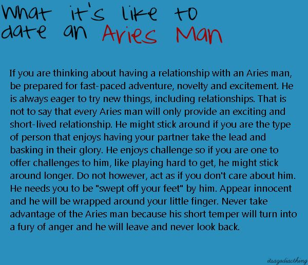 Aries woman dating an aries man