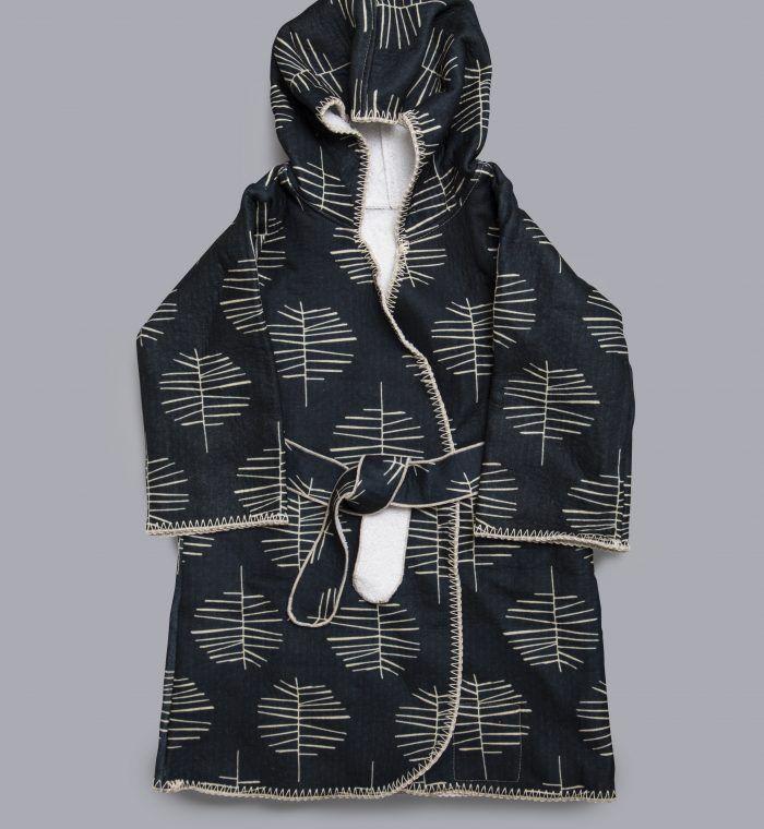 Beach robe, Bathrobe by House of Myrtle, silky outside, towel isnide