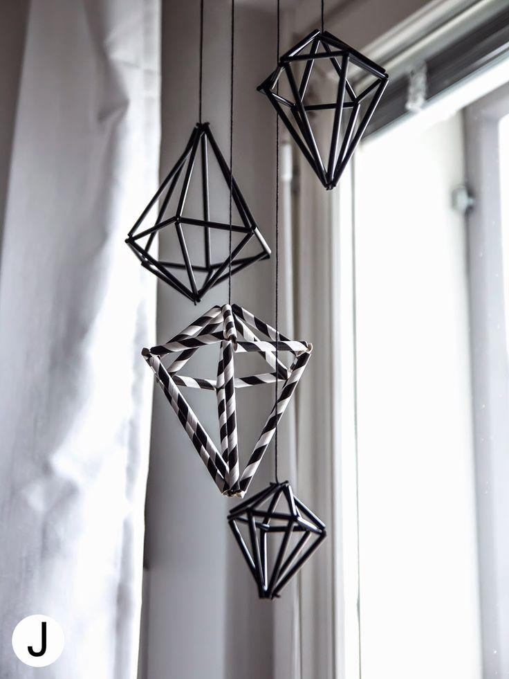 DIY timanttihimmeli pilleistä! Home decor, diamond, straw  ➡ diyjenny.blospot.fi