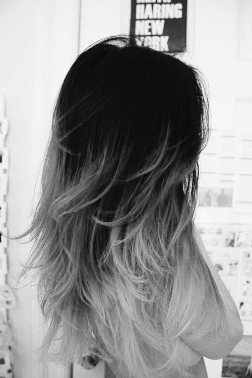 ... Black grey ombre on Pinterest - Black to grey ombre, Grey ombre and