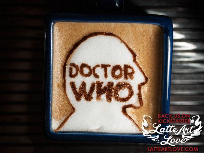 Latte Art - Doctor Who - William Hartnell