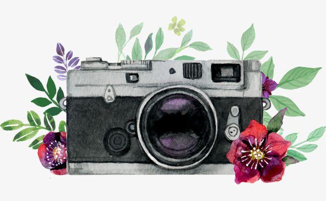 Beautiful Watercolor Hand Painted Camera Vector