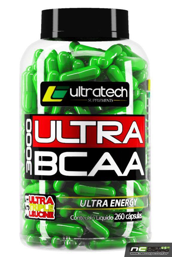 Ultra BCAA 3000 é a junção de três poderosos aminoácidos responsáveis pela regeneração das células MUSCULARES. Cada dose de Ultra BCAA 3000 fornece 3000mg de Leucina, Isoleucina e Valina, e adicionados de 100% da ingestão diária recomendada de vitamina B6, que tem papel fundamental no aproveitamento dos aminoácidos pela célula muscular. • 3000mg BCAA • Leucina • Isoleucina • Valina • 100% IDR de Vitamina B6