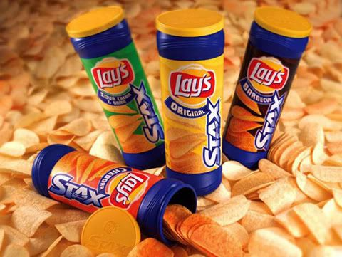 Lay's Stax, Sour Cream & Onion.