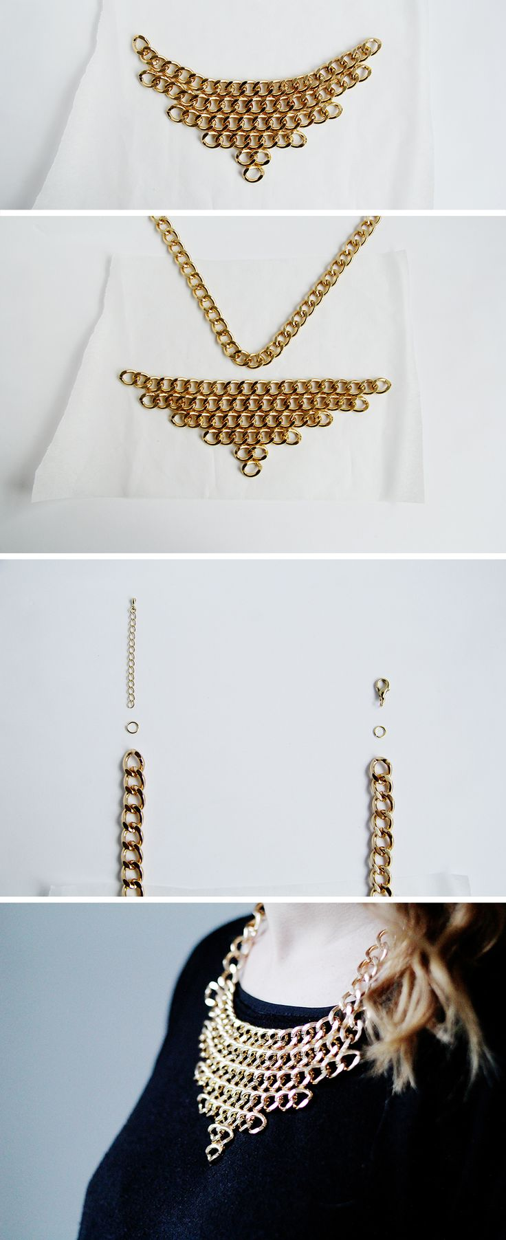 Chain Layer Necklace Fall For DIY Tutorial