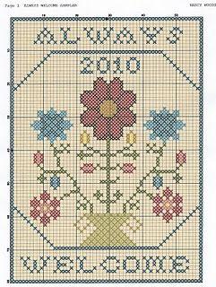 always welcome free cross stitch