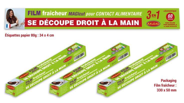 Création et impression de packaging alimentaire pour Axlead, fabricant français d'emballages alimentaires.