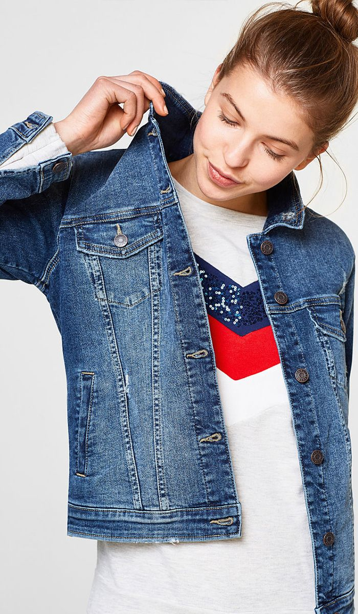 Esprit Denim Jacket Fashion Denim How To Wear [ 1200 x 700 Pixel ]