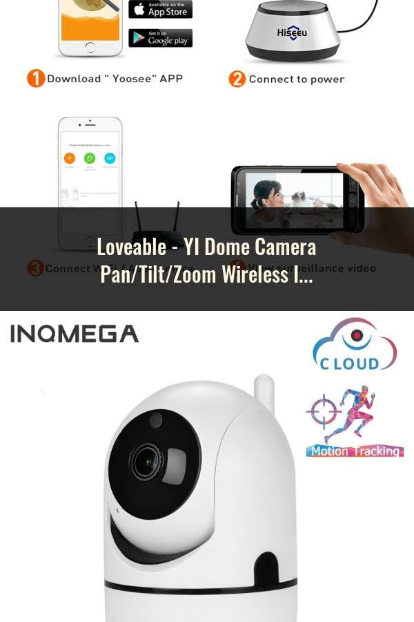 YI Dome Camera Wireless IP Security Surveillance System 720p HD Night Vision