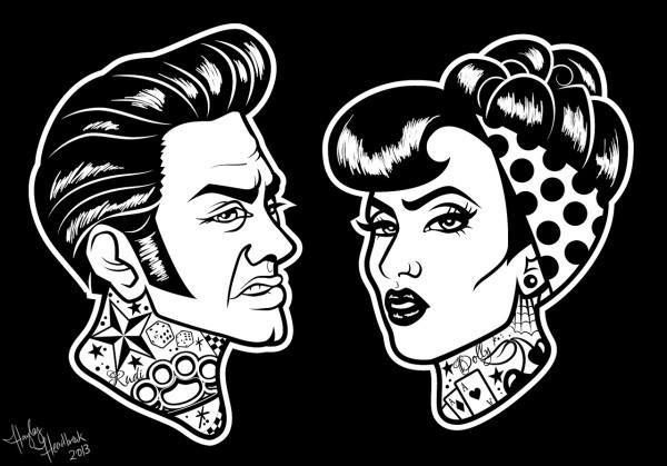 523 best images about rockabilly/psychobilly art on ...