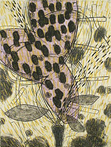 Akiko Taniguchi. Nebulas, 2000. Collagraph, chine colle. Edition of 20. 7-7/8 x 5-7/8 inches.