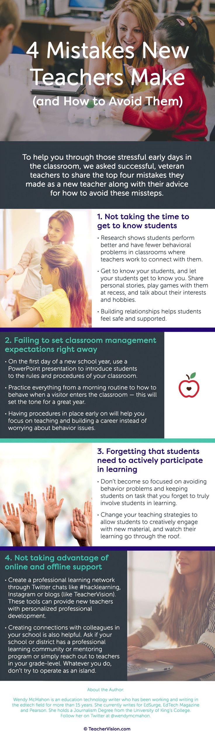 4 Mistakes New Teachers Make (and How to Avoid Them) - Veteran teachers share their advice on how to have a successful first year in the classroom.