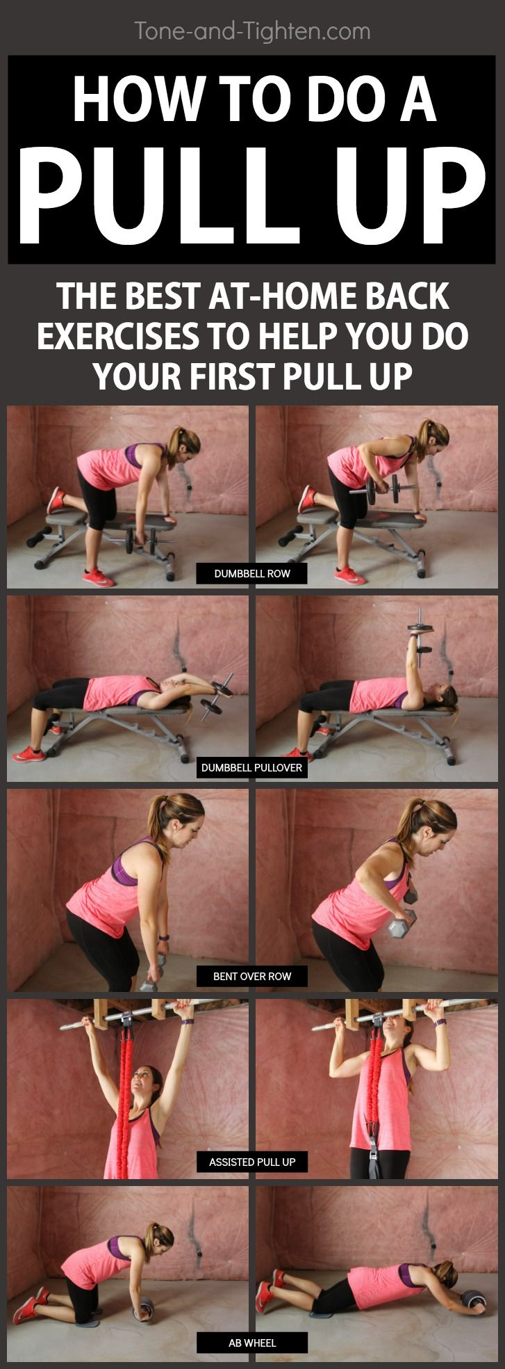 5 of the best exercises to help you do your first pull up - At-home workout from Tone-and-Tighten.com