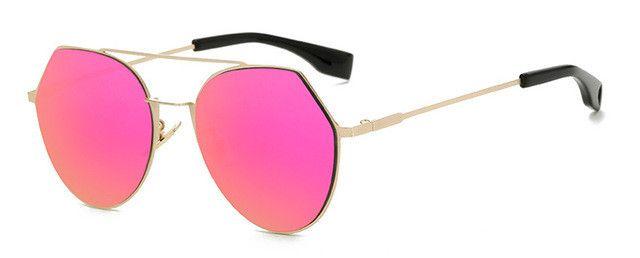 "Womens ""Queen Bee"" Flat Lens Circle Wire Browline Sunglasses Astroshadez"