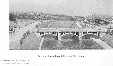 The new Church Street bridge over River Yarra (Approx Date-1926)