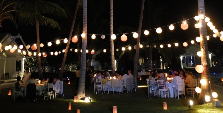 Rehearsal dinner in the coconut garden