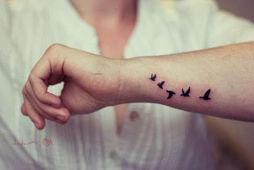 Unique design of little birds tattoo on forearm