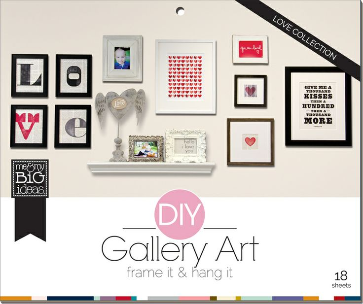 DIY Gallery ART Pads - LOVE Room pad that makes it so easy to make your own gallery wall.  On the me & my BIG ideas blog.  Tutorial.  PADW-08