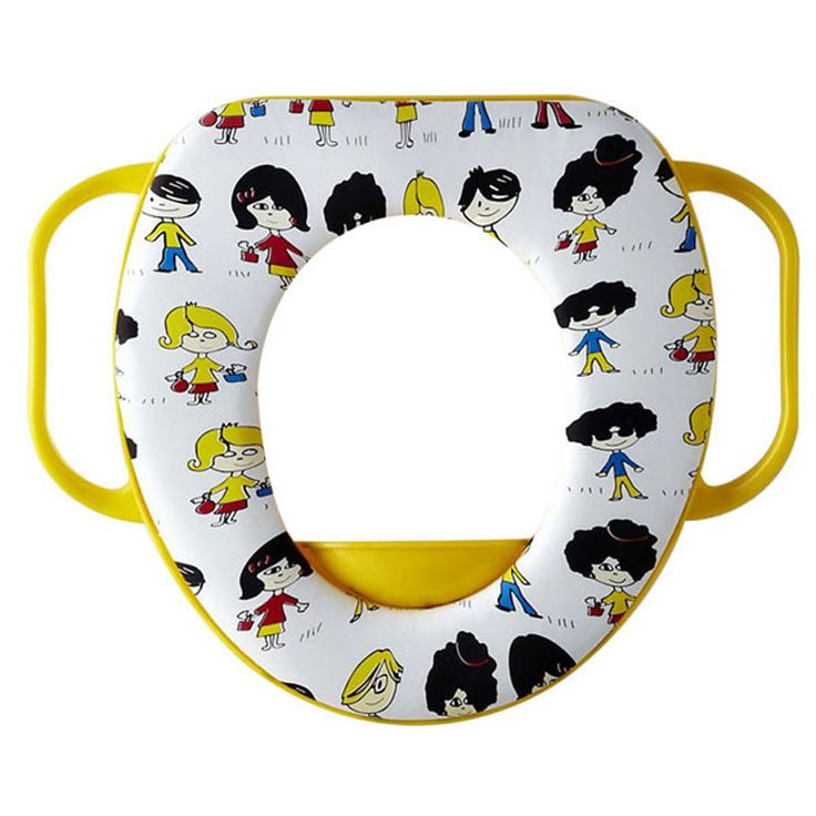Cartoon Colorful toilet seat kids soft  toilet seat cover  Cushion Child Seat Baby Potty Seat  Safety  with Handrail yellow kids