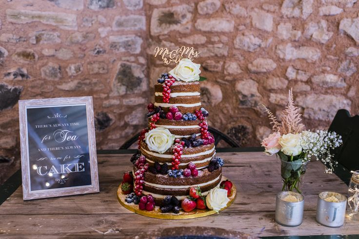 Tea and naked carrot cake...best wedding cake in the world at Wedderburn Barns