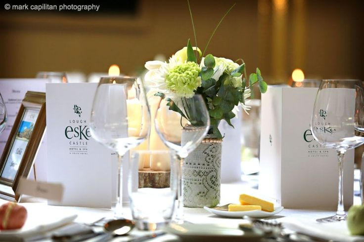 Table reception detail wedding photographer donegal