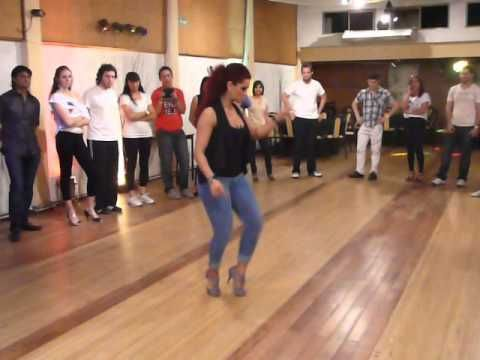 Jorjet Alcocer demonstrating her FABULOUS Dominican Bachata footwork!