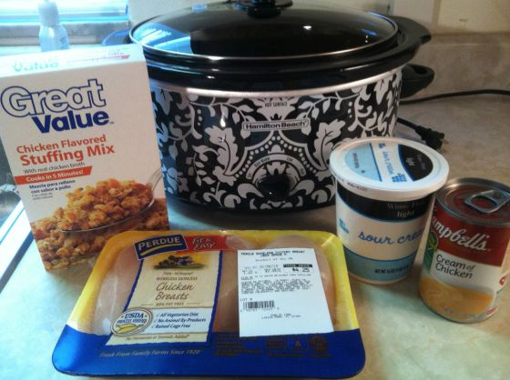 crockpot chicken and stuffing - This is on the menu this week.