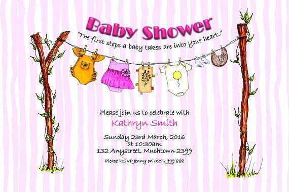 Baby Shower Invitation Baby Girl Invitation Girl