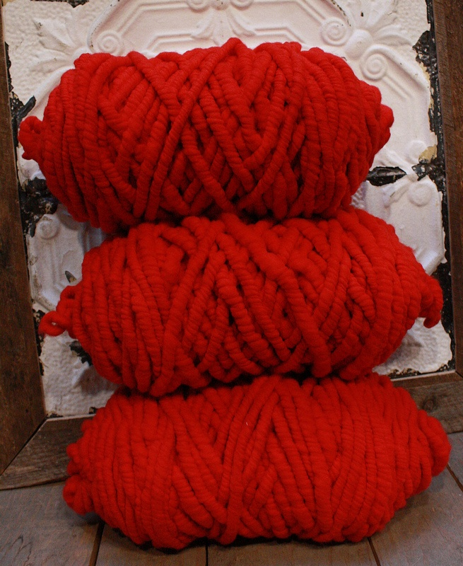 Big Loop Merino In Russian Red For Chunky Knits Knitted