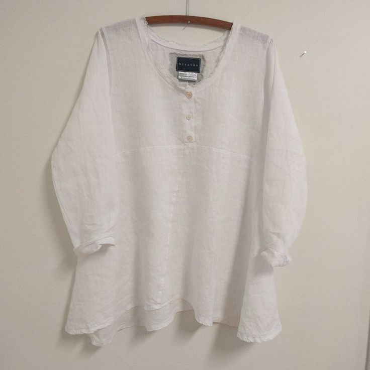 White handkerchief linen ' Barcelona' shirt
