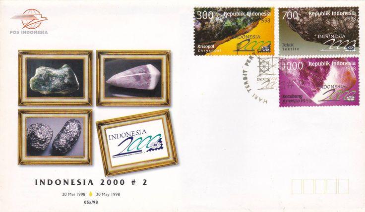 FDC Indonesia 2000 #2  Seri Batu Mulia (Gemstones) terbitan 1998