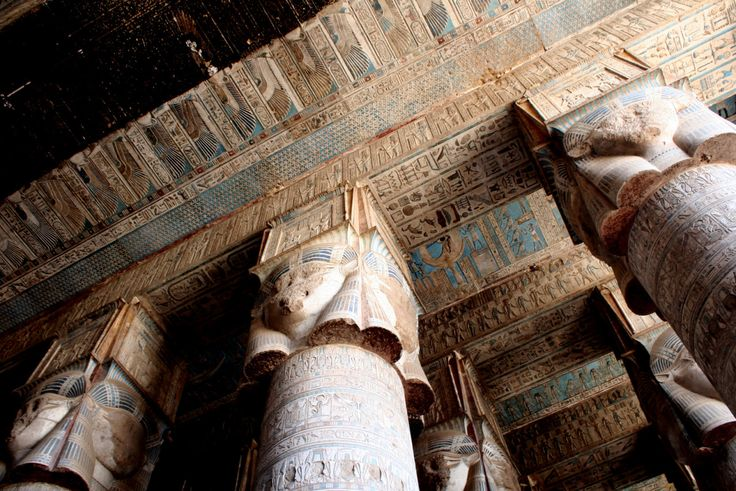 Ceiling of the Hathor Temple at Dendera. Egypt,... | Museum of artifacts