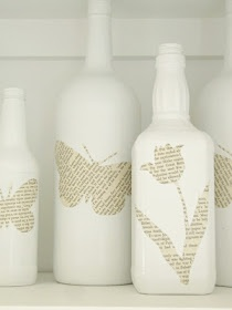 Book page wine bottles