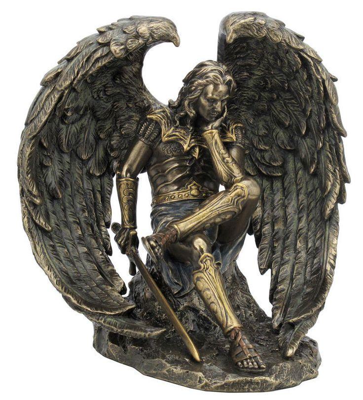 6.5 Inch Lucifer Fallen Angel Statue Satan Evil Devil Decor Figurine Diablo