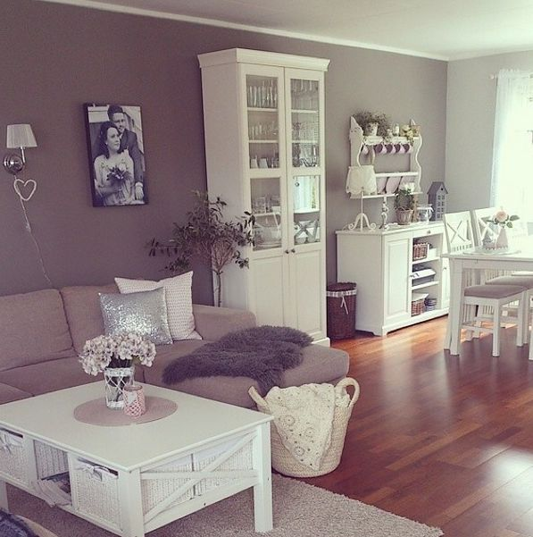 I like the white furniture and wall color