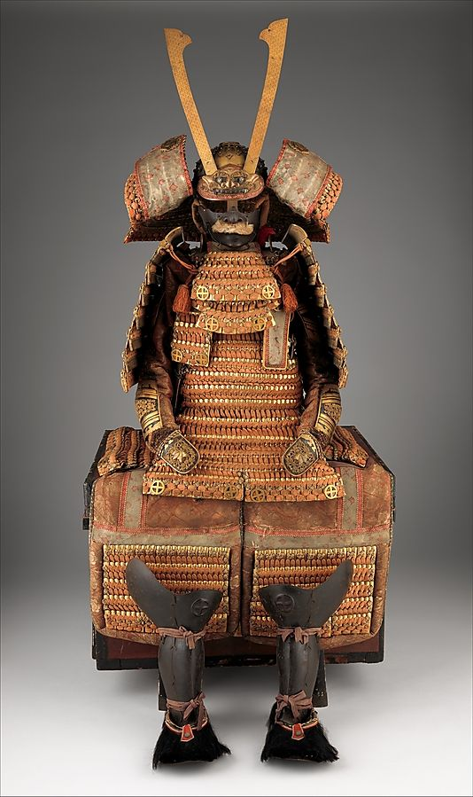 Armor (Yoroi), 19th century. Japanese. The Metropolitan Museum of Art, New York. Gift of the Baber Family, in loving memory of Charles Chenault Baber, 2012 (2012.528.1a–s) #mustache #movember