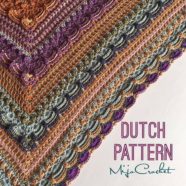 """Once again I have a weekend surprise for my Dutch followers ✨Lovely Annie Germeraad from the Facebook group """"Annyone's Shawls"""" has made a Dutch translation of my #lostintimeshawl ✨She also made charts added to the written pattern  Thank you Annie for doing this  The Dutch translation is now available on my blog ✨"""