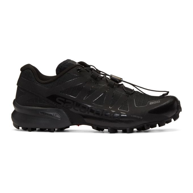 SALOMON Black Limited Edition S-Lab Speedcross Sneakers. #salomon #shoes #