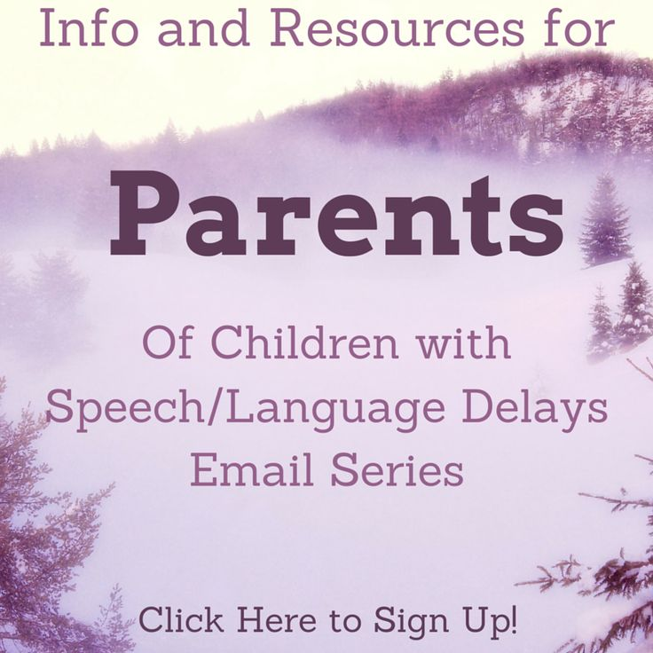 Sign up for this free email series to get a ton of great information and resources for parents of children with speech/language delays and disorders. Learn how to help your child at home!