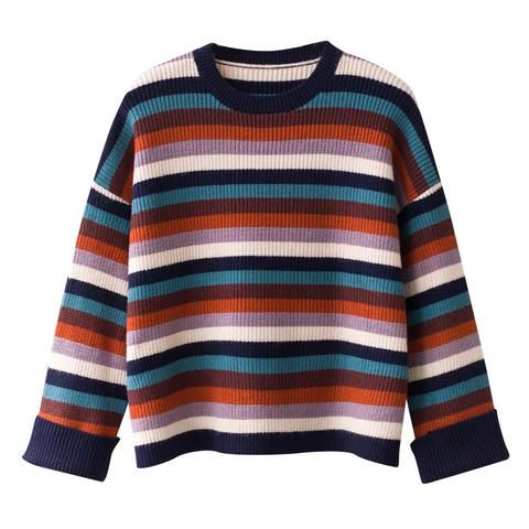 2d88827220 stripes hit colorful sweater pullover | Fashion | Sweaters, Pullover ...