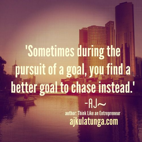 When you chase a goal, sometimes you find that your passion for that goal isn't as strong as it once was. If you find yourself in this situation, click on the pic to read what to do. #businessquotes #businessmotivation #entrepreneurquotes