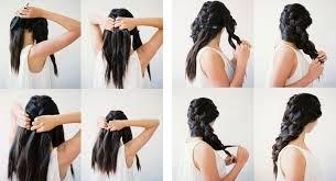 Resultado de imagen para peinados con trenzas paso a paso
