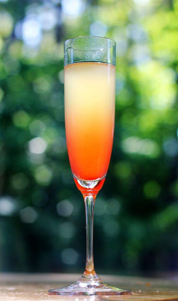 island mimosa - champagne, pineapple juice, Malibu, grenadine