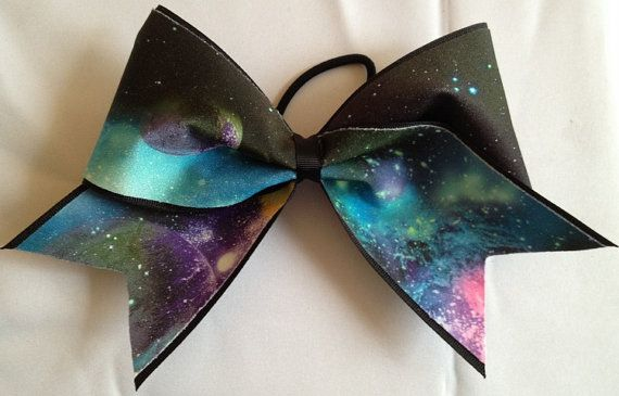 Outer Space Mini Childrens Cheer Bow Hair Bow Cheerleading