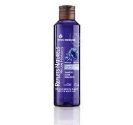 Shampooing reflets argentés. Cheveux gris ou blancs. A la Centaurée.6 euros.