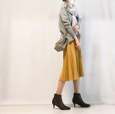 【coordinate】イエロースカートでゆるっとご近所コーデ|Umy's プチプラmixで大人のキレイめファッション